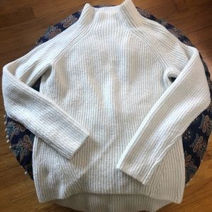 Madewell Northfield Mockneck Sweater in Snow sz S